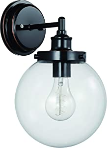 "Amazon Brand – Stone & Beam Mid-Century Wall Sconce Light, 13.08""H, Oil-Rubbed Bronze"
