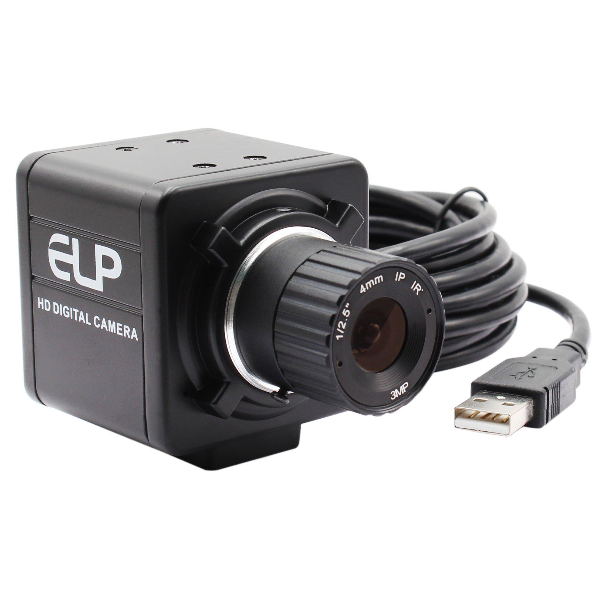 ELP 4mm Lens Aluminum Industrial Box Housing 960P Industrial Camera