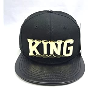 3384c8da210 NEW KING SNAPBACK CAP BASEBALL HIP HOP ERA FITTED FLAT LEATHER PEAK HAT