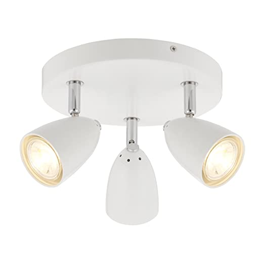 Modern 3 light triple way led round ceiling spotlight light modern 3 light triple way led round ceiling spotlight light lighting fitting complete with 35 mozeypictures Images