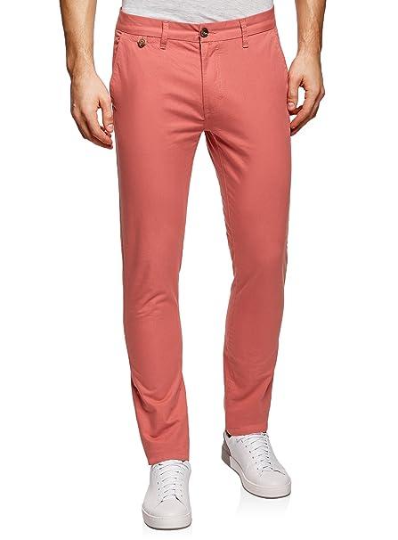4800b563dd3eb oodji Ultra Hombre Pantalones Chinos Básicos  Amazon.es  Ropa y accesorios