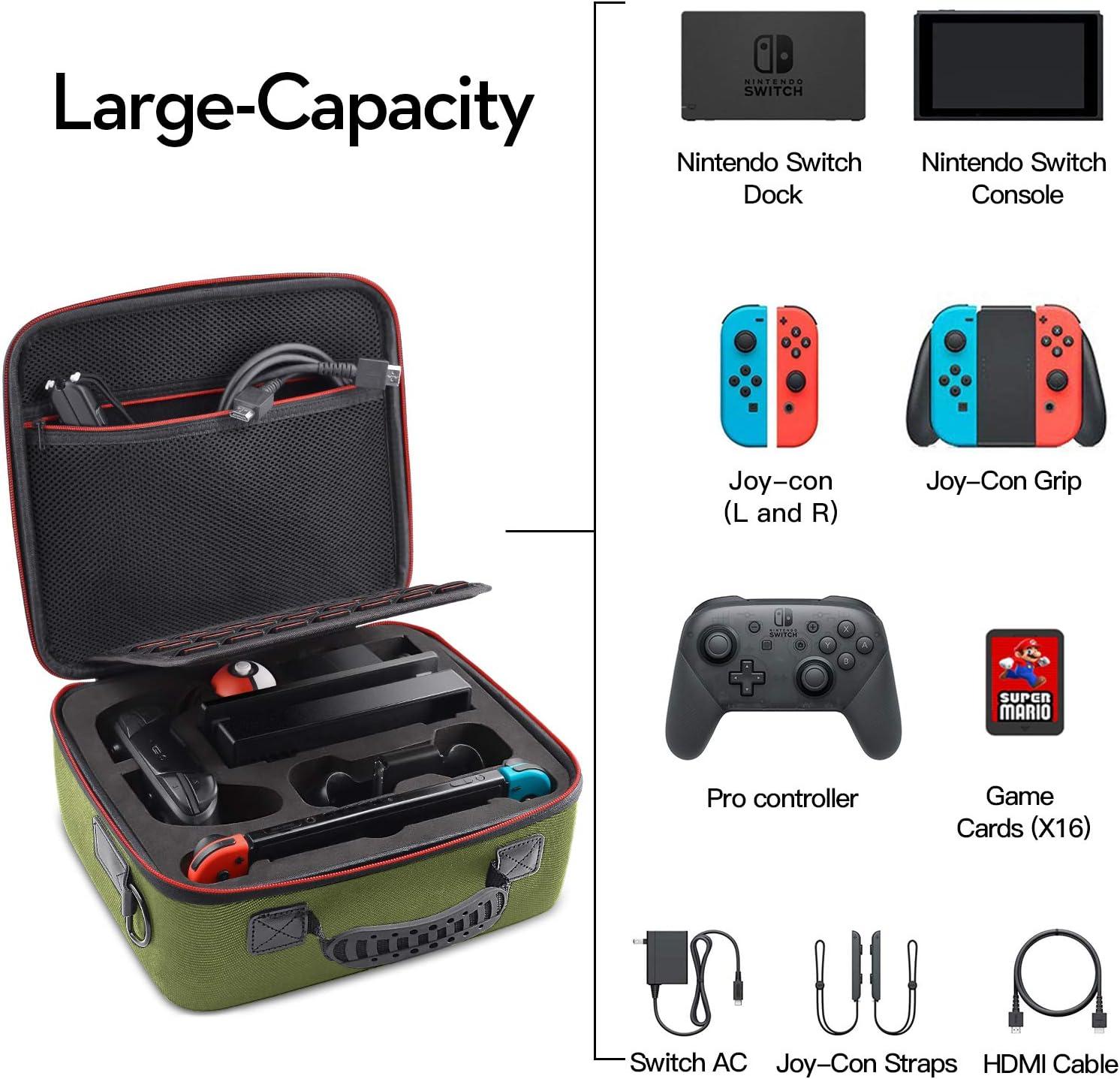Funda de Transporte para Nintendo Switch, Caja de Almacenamiento ...