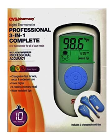 10 Second Reading, Number 1 Hospital Choice, CVS Digital Thermometer Professional 3-in