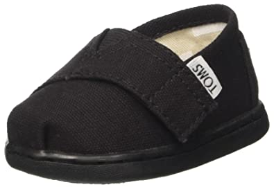 TOMS Kids Unisex Alpargata 2.0 (Infant/Toddler/Little Kid) Black Canvas Shoe