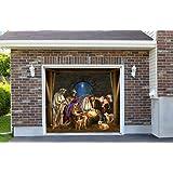 Outdoor Decoration Nativity Scene Christmas Holiday Home Garage Door Decor Banner Billboard Decoration 7' x 8'