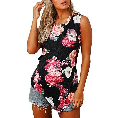 2a825bcbea95b Hosam レディース 洋服 トップス タンクトップ 袖なし Tシャツ 花柄 ゆったり 快適 女子 洋服