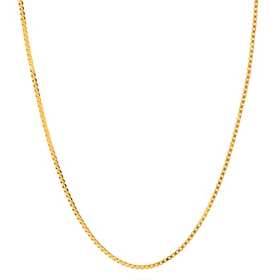 Amazon lifetime jewelry box chain 14 mm pendant necklace 24k lifetime jewelry box chain 14 mm pendant necklace 24k gold plated made thin for charms aloadofball Choice Image
