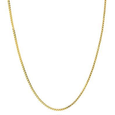 2b1e226c3ab6 Lifetime Jewelry - Collares dorados para mujeres y hombres  cadena de caja  de 1