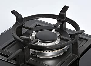 K&H Gas Cooktop Black Cast Iron Wok Support Ring