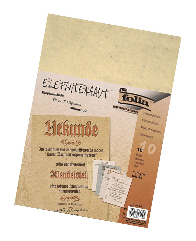 Bringmann Folia 951410(Peau d'éléphant, 110g/m² Chamois Format A4, 10feuilles)