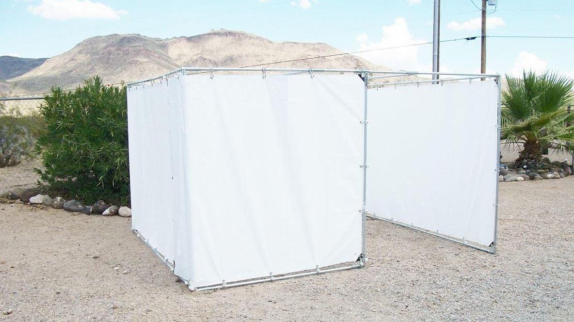 10' x 20' SUKKAH KIT with OFFSET DOOR OPENING for 1'' Pipe - Sukkot