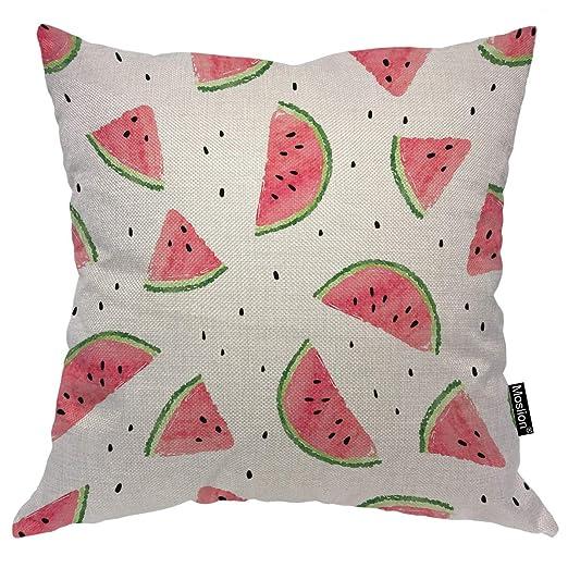 Moslion Funda de almohada de sandía de verano, diseño de ...