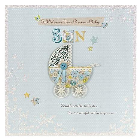 Amazon.com: Un bebé hijo, nuevo bebé tarjetas de ...
