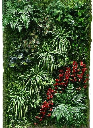 WENZHE Artificial Planta Vid Hiedra Colgante Hojas Interior Al Aire Libre Pared De Fondo Casa Adornos No Te Desvanezcas Inodoro, 0.96㎡ (Color : 3 Pieces): Amazon.es: Hogar