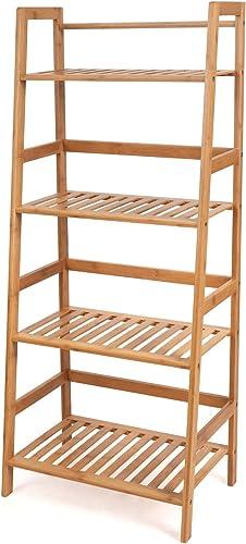 HOMFA Bamboo 4 Shelf Bookcase