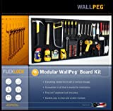 """WallPeg 48"""" Wide Pegboard Kit with 2 Panels & 25"""