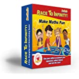 Maths Games for kids, KS2, KS1, KS3 – RACE TO INFINITY™- FUN Math Board Game with dice, for Children to increase Confidence – Perfect for Practising Times Tables, Addition and Subtraction, Multiplication and Division- Great for age 6,7,8,9,10,11,12,13 Year Olds, Primary & Secondary School, Teenagers, Teachers, even Adults. Game for both Maths Whizzes and Maths-Phobics - The #1 Way to Do Maths Practice With Your Child Easily without Stress-Get it Now at Great This Pricing Before They're all Gone!