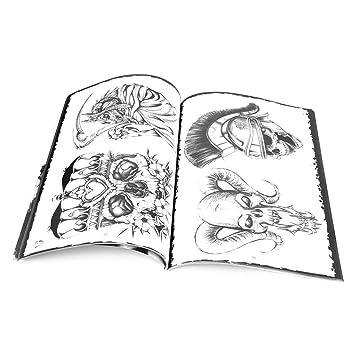 Libro De Tatuaje Suministro Foto Referencia Art Calavera Patrón ...