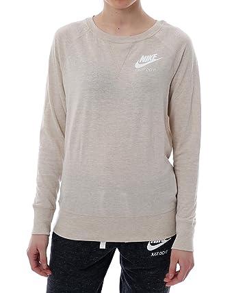 Nike Damen Oberteile Pullover Sportswear Crew beige S