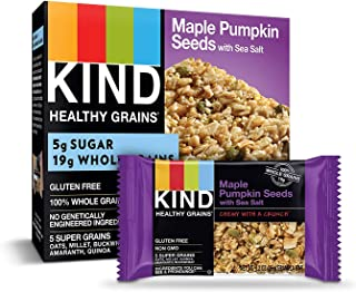 product image for KIND Healthy Grains Bars, Maple Pumpkin Seeds with Sea Salt, Non GMO, Gluten Free, 1.2 oz, 5 Count