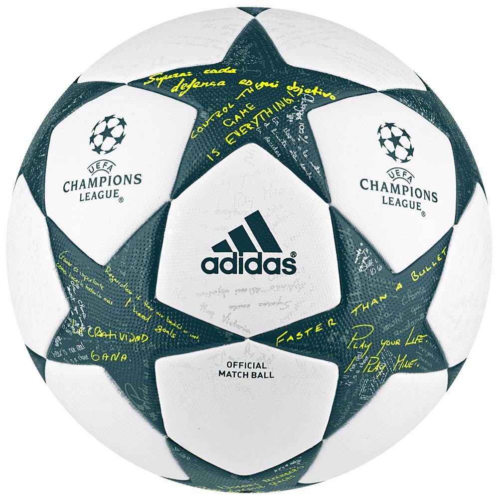 adidas 2015 UEFA Champions League Oficial Juego fútbol Pelotas - AP0374, Fútbol, Blanco/Verde: Amazon.es: Deportes y aire libre