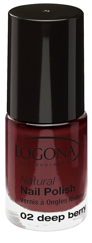 LOGONA Naturkosmetik Natural Nail Polish, Nagellack No. 03 Classic Red, Klassisches sattes Rot, Natürliche Inhaltsstoffe, NATRUE/BDIH zertifiziert, 4ml 2485
