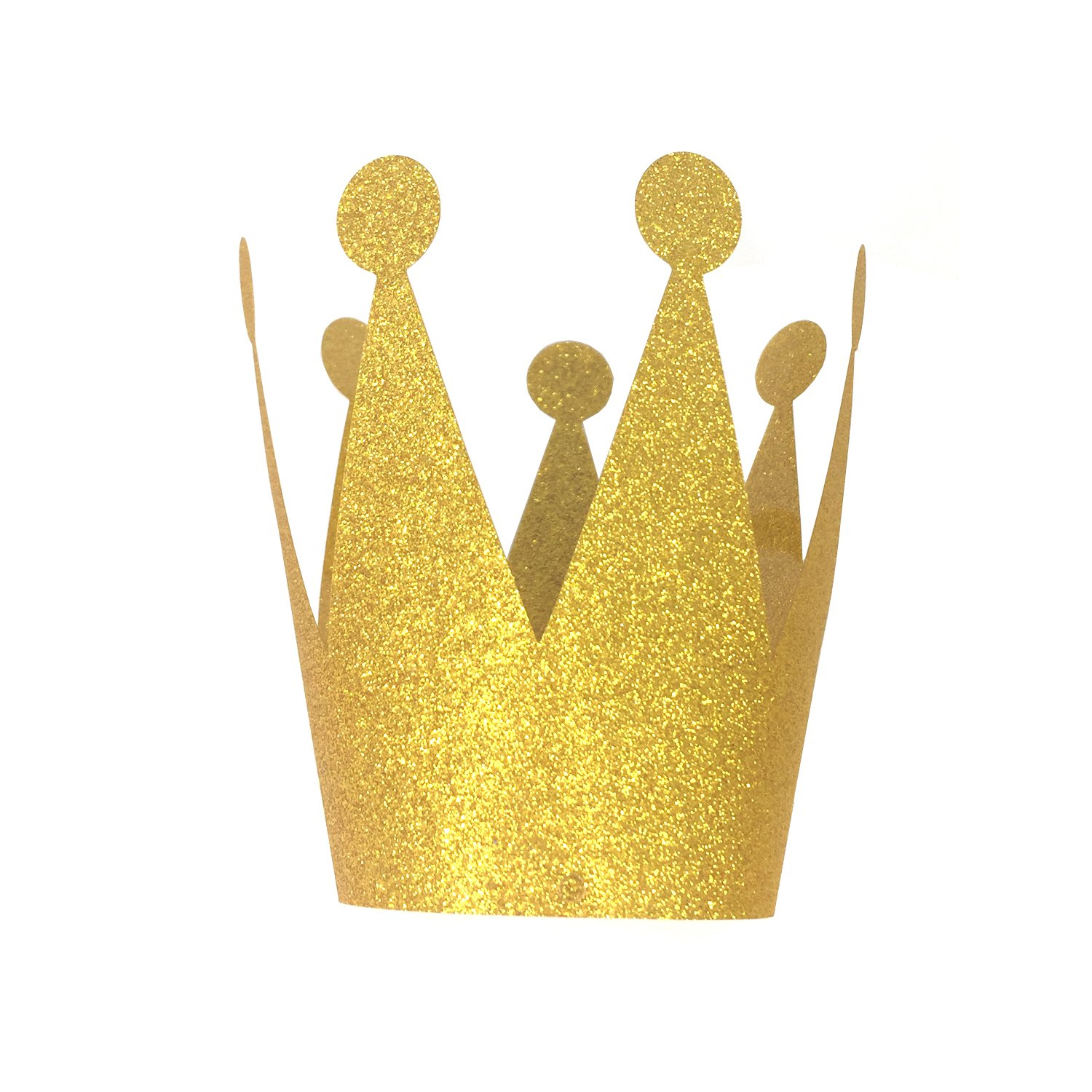 Amazon.com: Gold Glitter Party Crowns Hats, 6 ct: Toys & Games