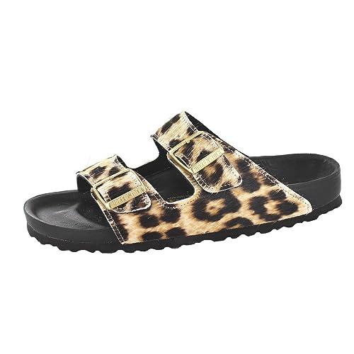 96f74b3bf91 Birkenstock Arizona 1000272 (Narrow Fit) - Snow Leopard Exquisit (Animal  Print) Womens