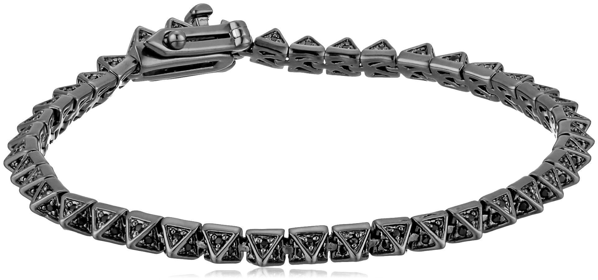 EDDIE BORGO Pave Pyramid Gunmetal Tennis Bracelet