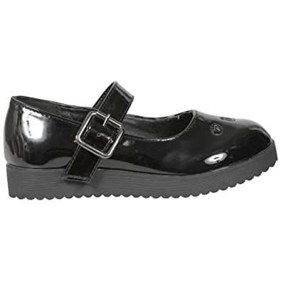 CORE COLLECTION New Womens Kids Girls Children Flat Mary Jane School Pumps  Shoes Size 3-8  Amazon.co.uk  Shoes   Bags f1a4cd96ee