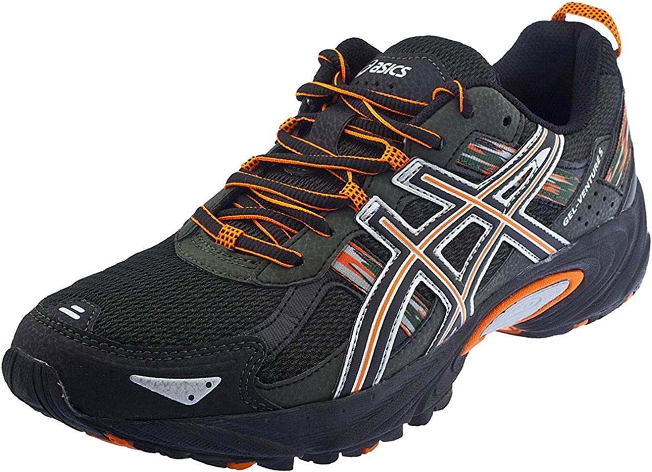 ASICS Men s Gel Venture 5 Trail Running Shoe, 11.5 D M US, Black Shocking Orange Duffel Bag
