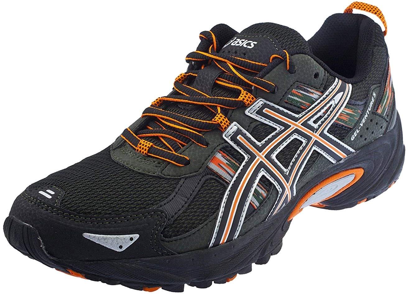 ASICS Men's Gel Venture 5 Running Shoe (8 D(M) US, Black/Shocking Orange/Duffel Bag)