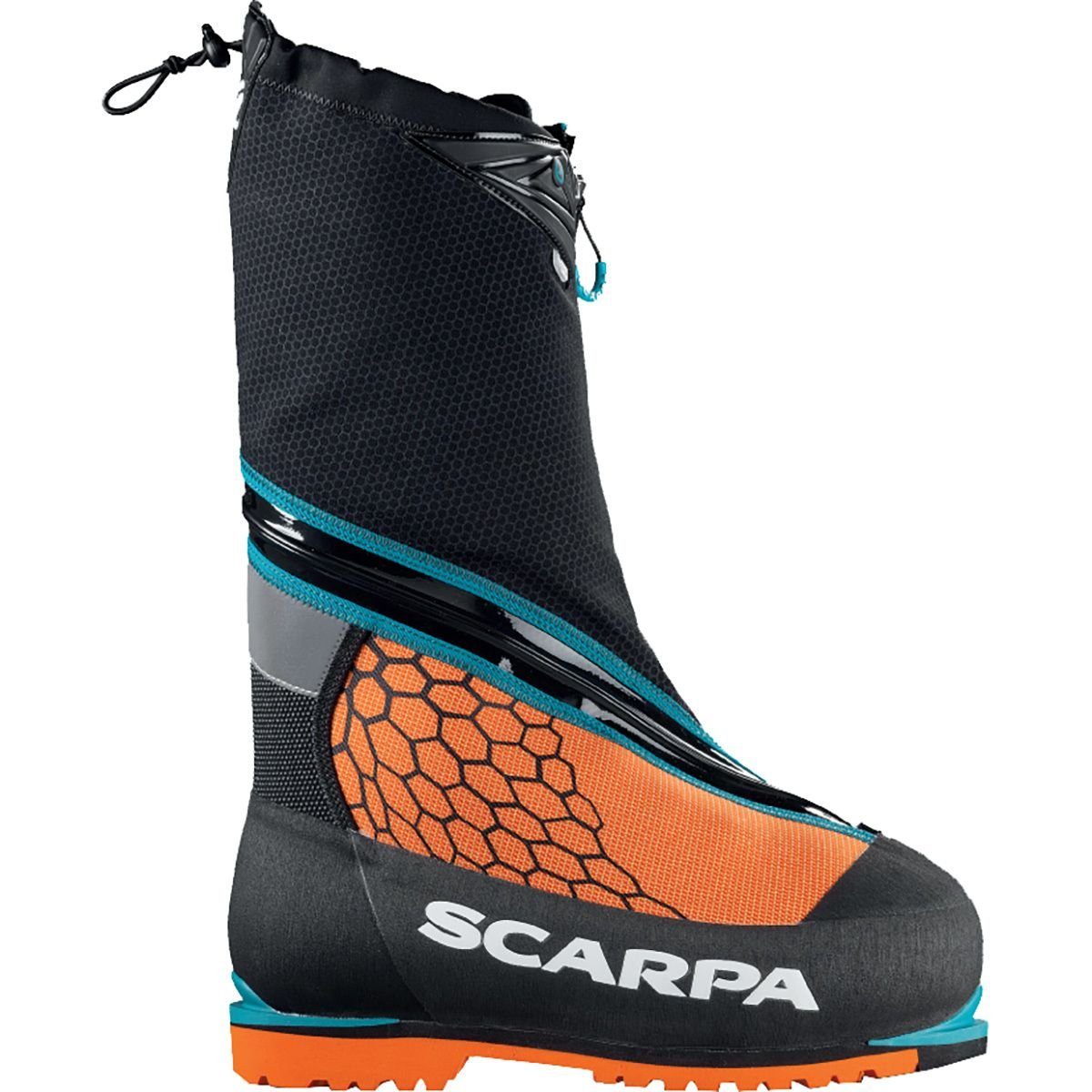Scarpa Men's Phantom 8000 M Mountaineering Boot, Black/Orange, 39 EU/6.5 M US