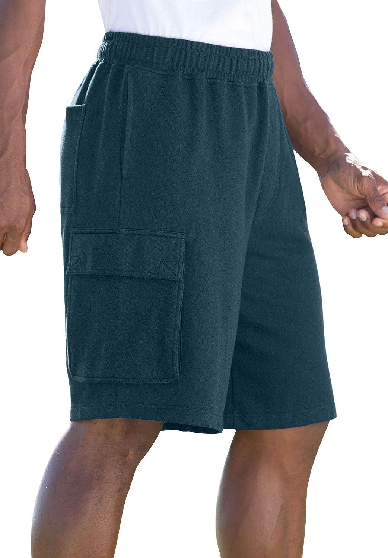 KingSize Mens Big /& Tall Fleece 10 Cargo Shorts