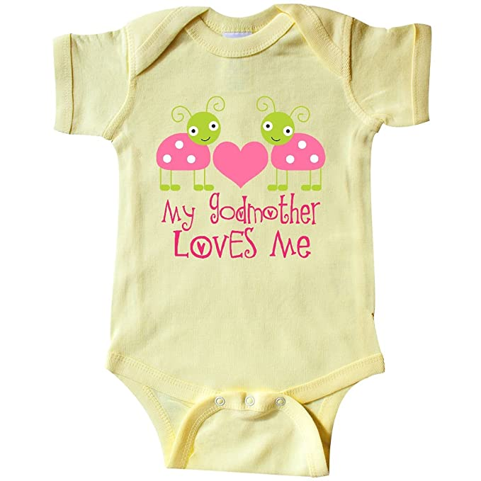 942f44755 inktastic - My Godmother Loves Me Infant Creeper Newborn Banana Yellow ee84