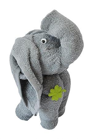 Frottier regalo Set Origami Toalla de invitados toalla Manopla, diseño de elefante/Art: Gris: Amazon.es: Hogar