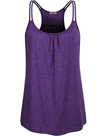 bfd26a7a76af05 Hibelle Womens Scoop Neck Cute Racerback Yoga Workout Tank Top