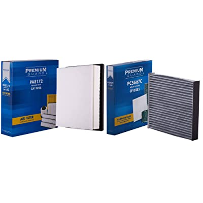 PG Kit Engine Air and Cabin Filter AC81725667| Fits 2014-19 Toyota Tundra, Sequoia: Automotive
