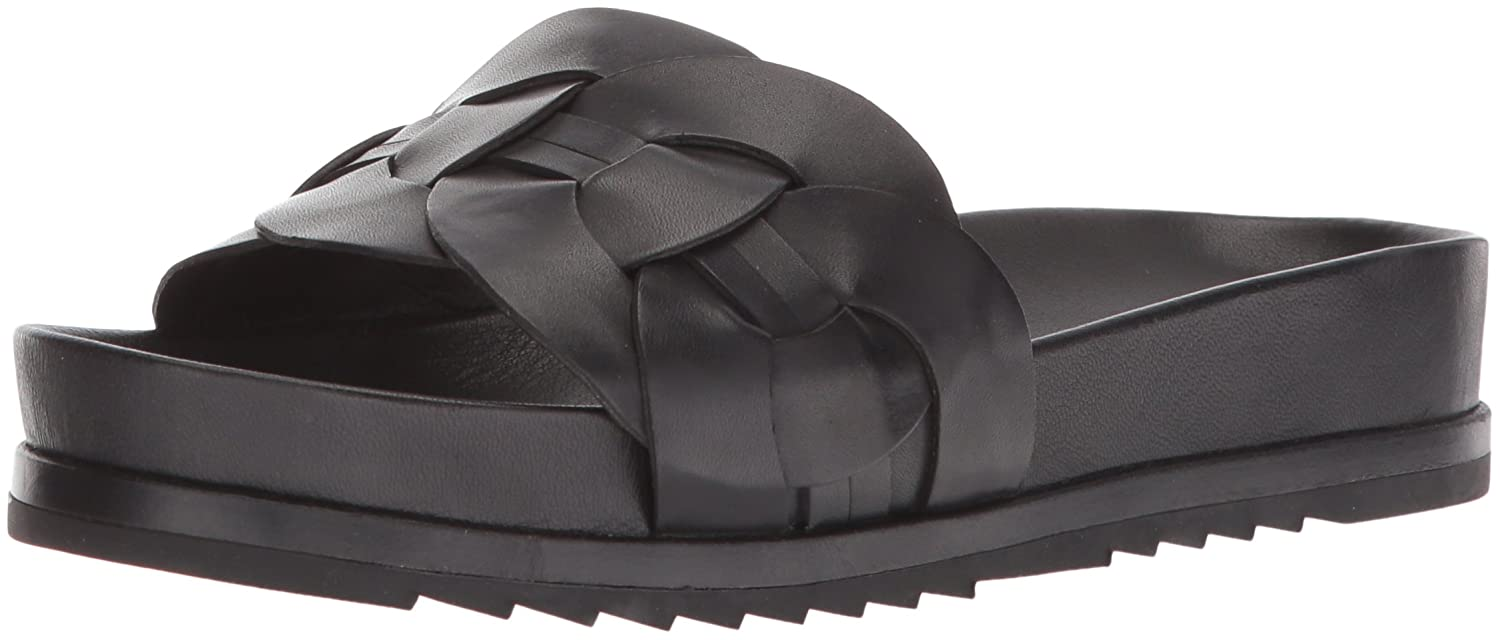 FRYE Women's Lily Leather Ring Slide Sneaker B074QTDCDG 8.5 B(M) US|Black