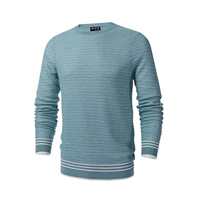 AFAIK as far as I know - Men's Crew Neck Pullover Cotton Knitted Long Sleeve Casual Sweater at Men's Clothing store