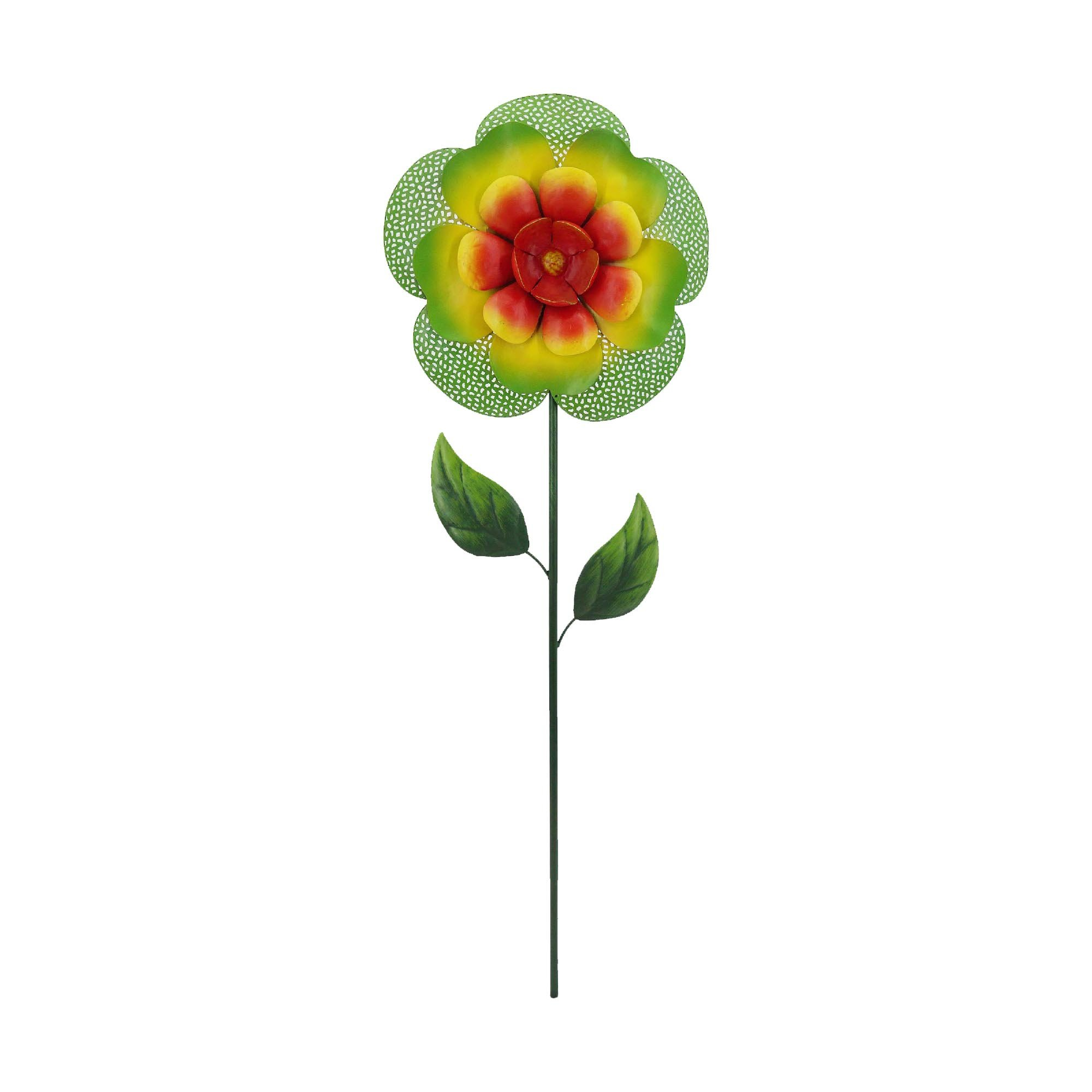 Creative Motion 14282-8 Metal Garden Stake, 9.875'' x 2'' x 36.25'' H, Multi Color