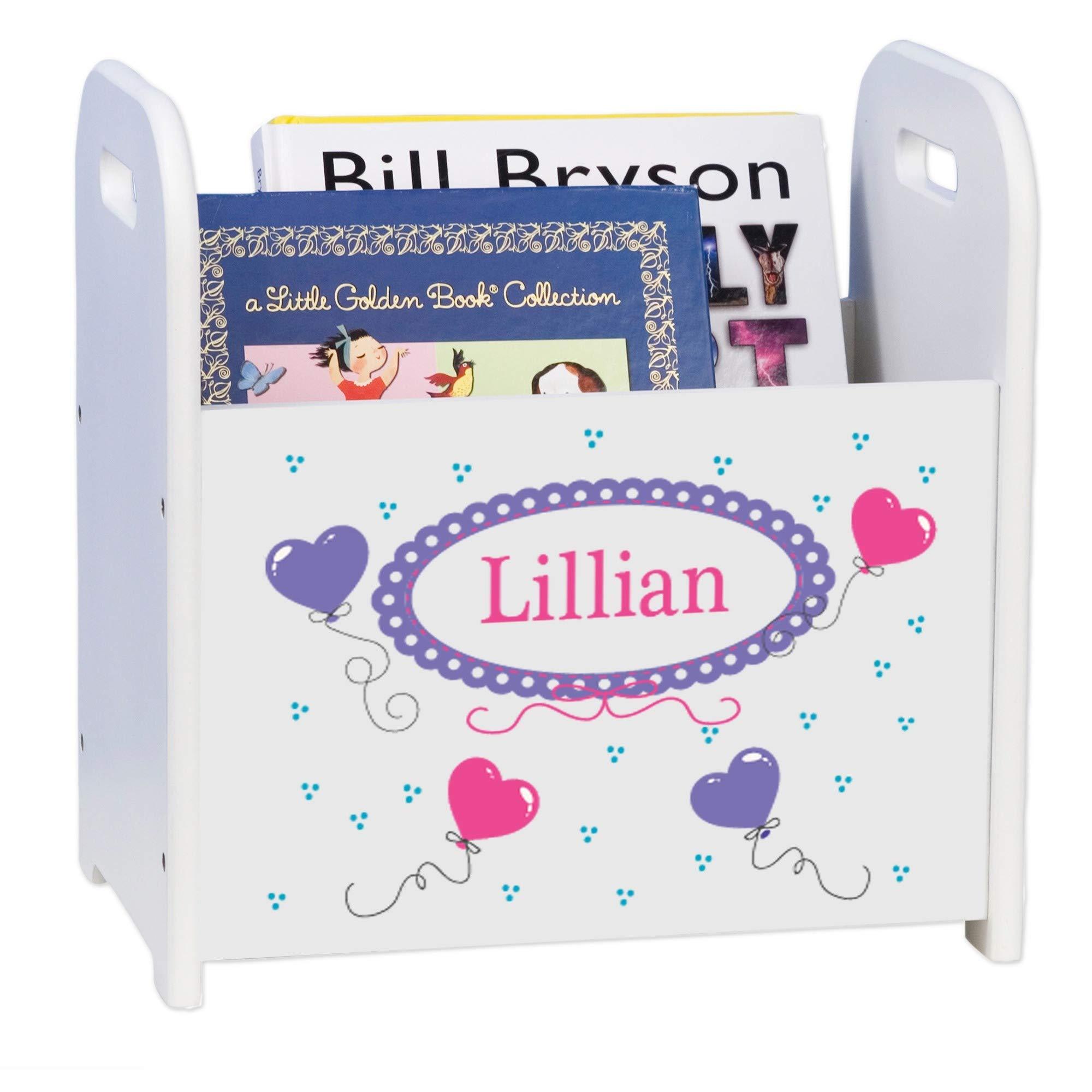 MyBambino Personalized Heart Balloons Kids Storage Shelf Organizer Baby Room Bookcase Furniture