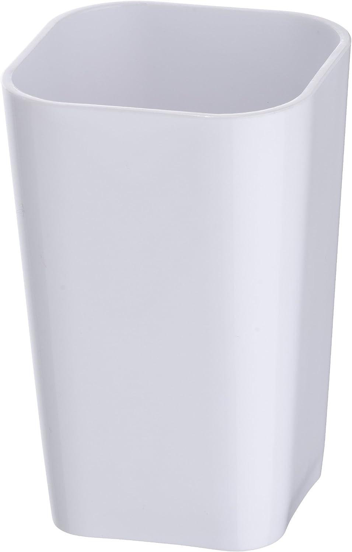 8x8x10 cm Blanco Wenko Vaso para Cepillos de Dientes Poliresina