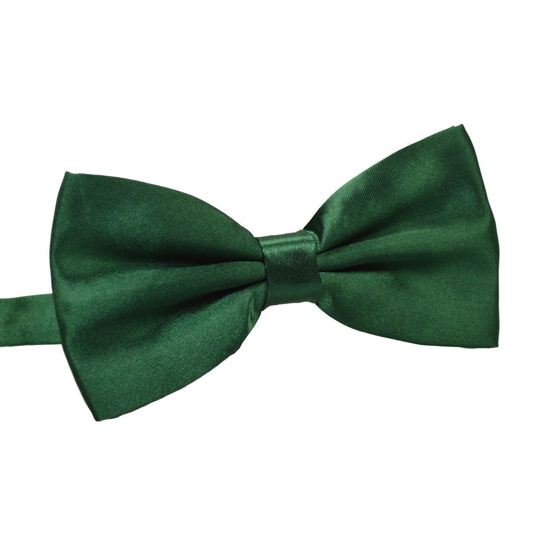 TINYHI Men's Pre-Tied Satin Formal Tuxedo Bowtie Adjustable Length Satin Bow Tie Bowtie001Black