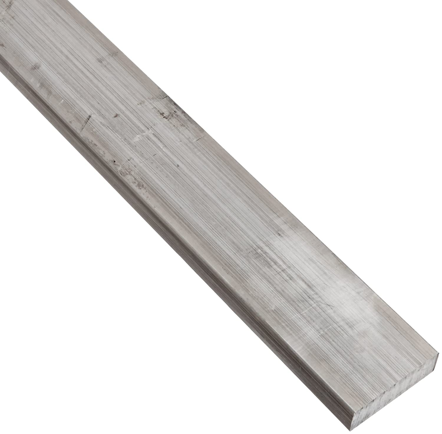 2024 Aluminum Rectangular Bar, Unpolished (Mill) Finish, T351 Temper, Meets ASTM B211, 1/2' Thickness, 2 1/2' Width, 12' Length 1/2 Thickness 2 1/2 Width 12 Length Small Parts Inc 97239