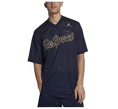 9285a50089c8c9 NIKE Jordan Men s Re2pect Baseball Training Jersey-Navy at Amazon ...