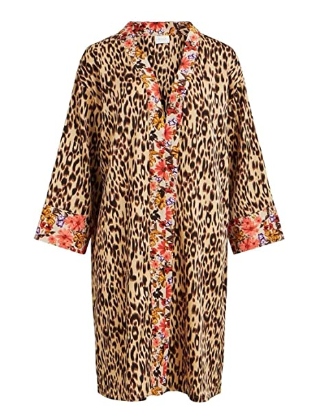 Vila Chaqueta Mujer Vilurina Kimono Leopardo: Amazon.es ...