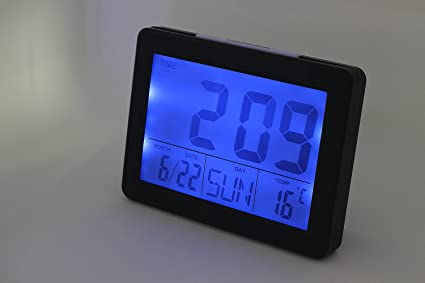 XL-3-Pantalla gran display digital electrónico reloj calendario temperatura y luz de fondo