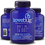 LoveBug Probiotics Digestive Health Probiotic - Here's the Skinny, 30 Day Supply of Tablets - 15x More Effective than Probiotic Capsules with Patented Delivery Technology - Probiotic Supplement
