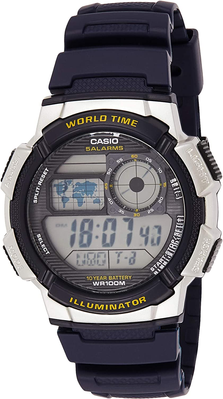 Casio Men's '10-Year Battery' Quartz Resin Watch,(Model: AE1000W-2AV)